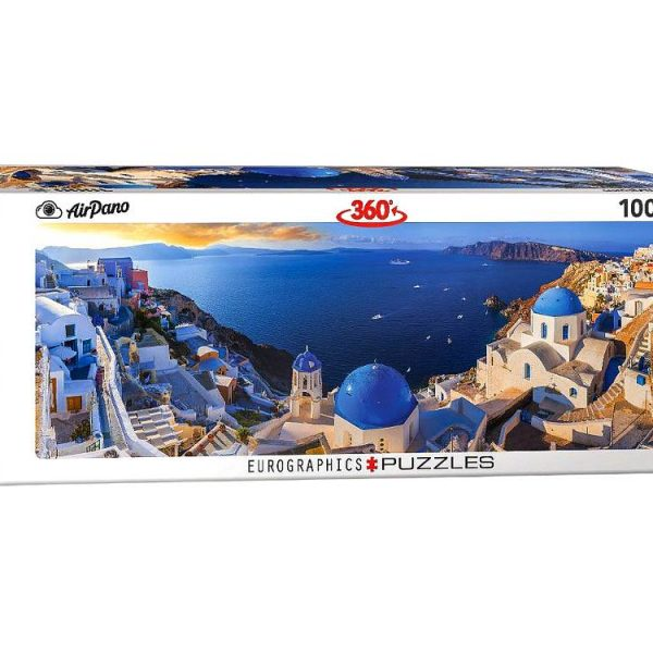 Airpano – Santorini Greece 1000 Piece Panoramic Puzzle