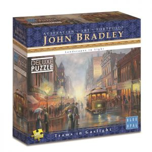 John Bradley - Trams in Gaslight 1000 Piece Puzzle