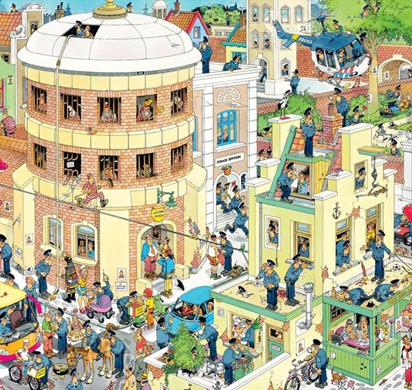 JVH The Escape 1000 Piece Jumbo Jigsaw Puzzle