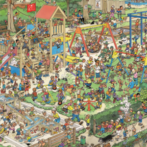JVH The Playground 1000 Piece Jumbo Jigsaw Puzzle