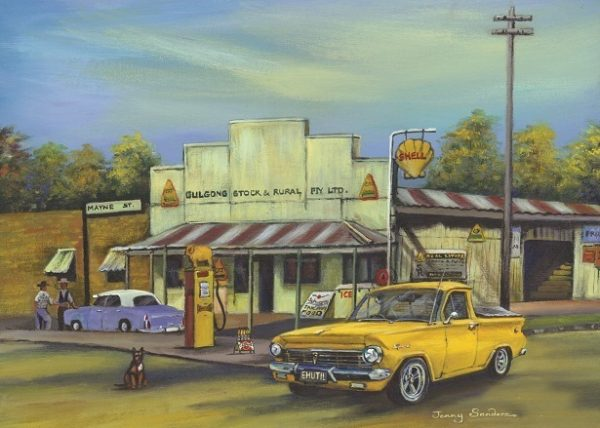Jenny Sanders - Gulgong Garage 1000 Piece Blue Opal Puzzle