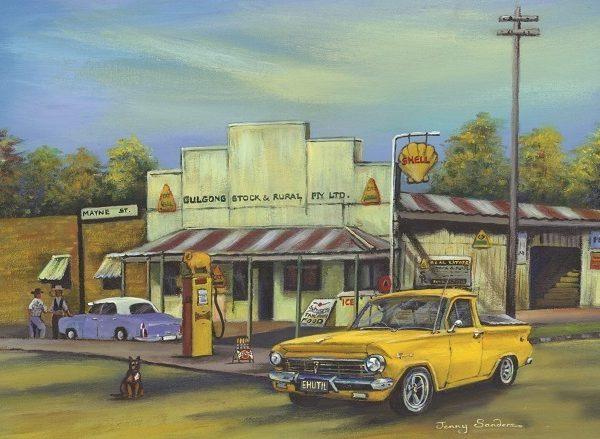 Jenny Sanders – Gulgong Garage 1000 Piece Blue Opal Puzzle