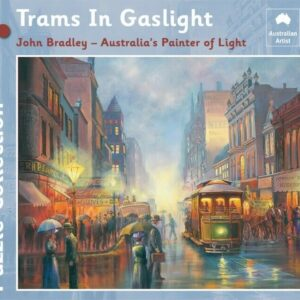 John Bradley - Trams in Gaslight 1000 Piece Jigsaw Puzzle - Blue Opal