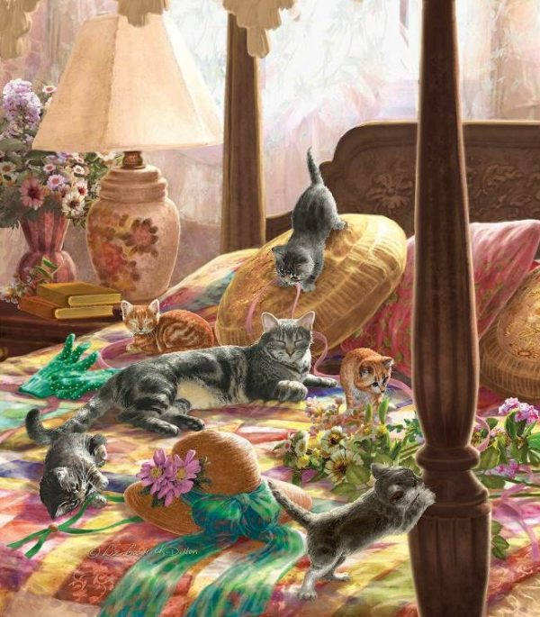 Kittens on a Bed 550 Piece Sunsout Puzzle