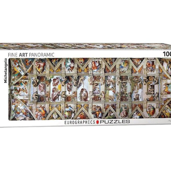 Sistine Chapel Ceiling 1000 Piece Panoramic Puzzle