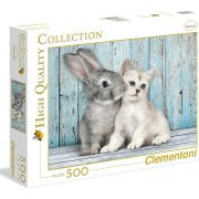 Cat and Bunny 500 Piece Clementoni Puzzle