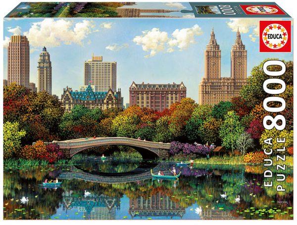 Central Park Bow Bridge 8000 Piece Puzzle