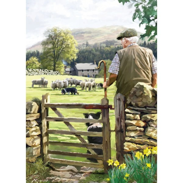 Country Life – Bringing in the Flock 1000 Piece Puzzle