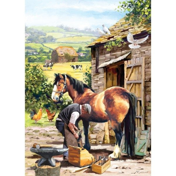 Country Life - Farrier at Work 1000 Piece Holdson Puzzle