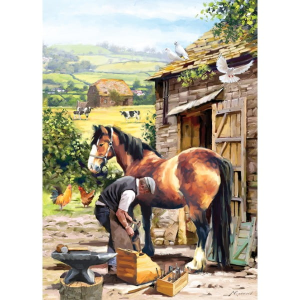 Country Life – Farrier at Work 1000 Piece Holdson Puzzle