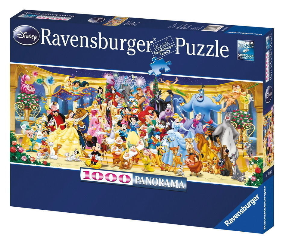 disney characters panorama 1000 piece ravensburger puzzle. Black Bedroom Furniture Sets. Home Design Ideas