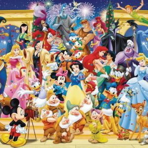 Disney Characters Panorama 1000 Piece Puzzle