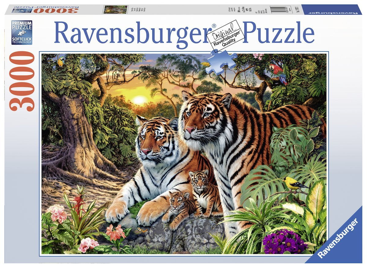 HIdden Tigers 3000 Piece Ravensburger Puzzle