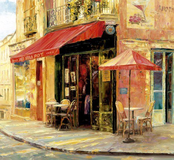 Hillside Cafe Haixia Liu 1500 Piece Educa Puzzle