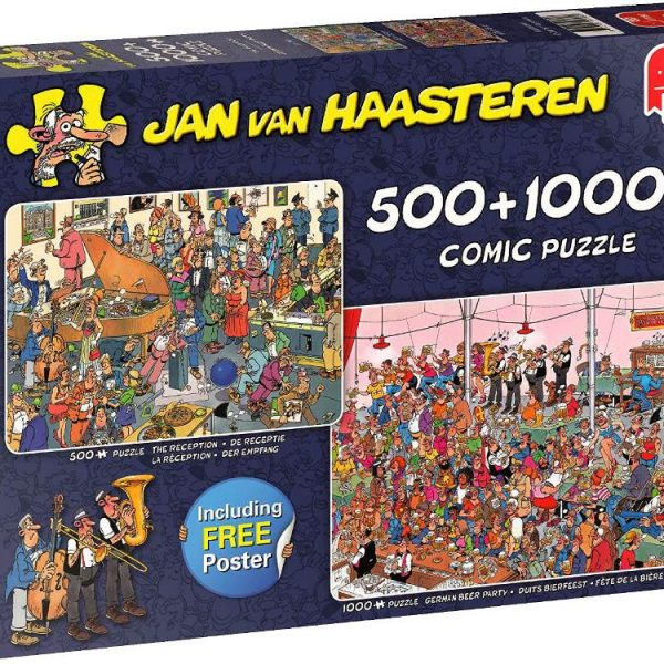 Jan van Haasteren Let's Party (Twin Pack) Jigsaw Puzzles