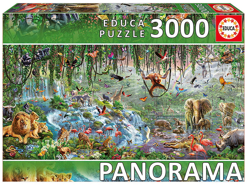 panorama educa puzzle wildlife frament 3000 piece. Black Bedroom Furniture Sets. Home Design Ideas