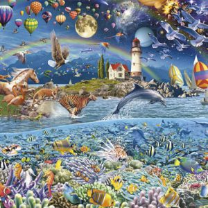 Life (Fragment) 3000 Piece Panorama Educa Puzzle