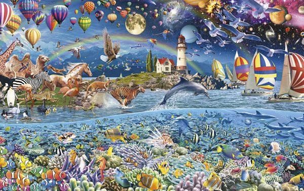 Life (Fragment) 3000 Piece Panorama Educa Puzzle