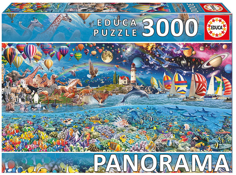 panorama jigsaw puzzle life fragment educa 3000 piece. Black Bedroom Furniture Sets. Home Design Ideas