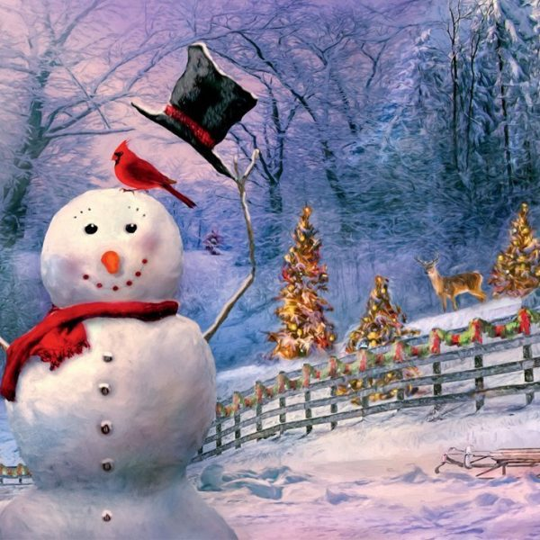 Magical Snowman Large Format 300 Piece Puzzle