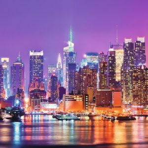 Manhattan Lights 1000 Piece Panoramic Ravensburger Puzzle