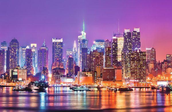 Manhattan Lights 1000 Piece Panoramic Ravensburger Puzzle