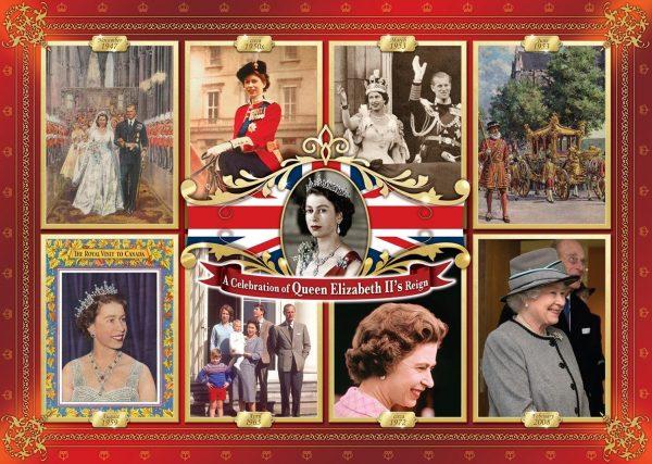 Queen Elizabeth II's Reign 1000 Piece Puzzle