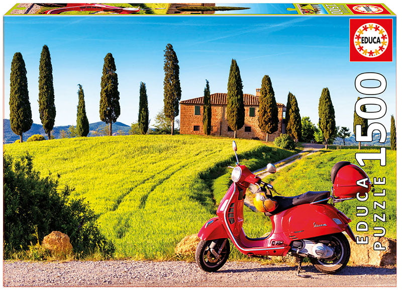 Scooter in Toscana 1500 Piece Jigsaw Puzzle