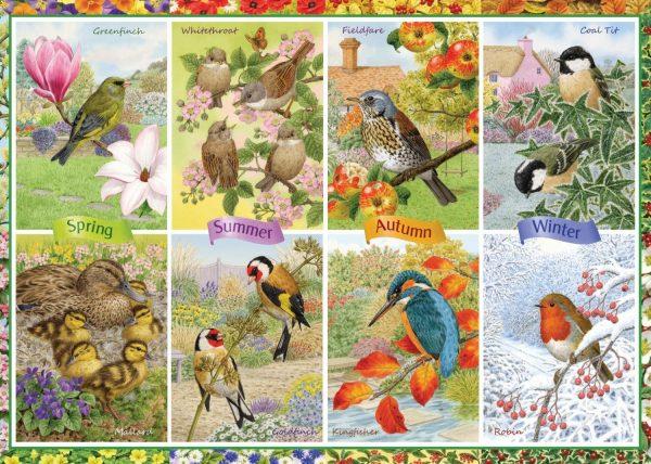 Seasonal Garden Birds 1000 Piece Jigsaw Puzzle