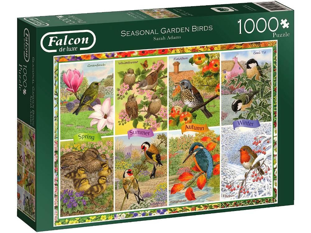 1000 puzzle seasonal garden birds falcon de luxe