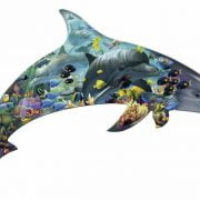Silhouette Puzzle Dolphins 862 Piece
