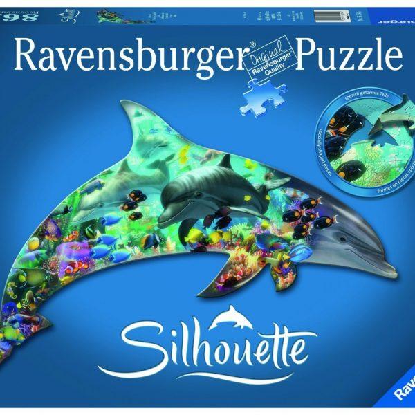 Silhouette Puzzle Dolphins 862 Piece Ravensburger