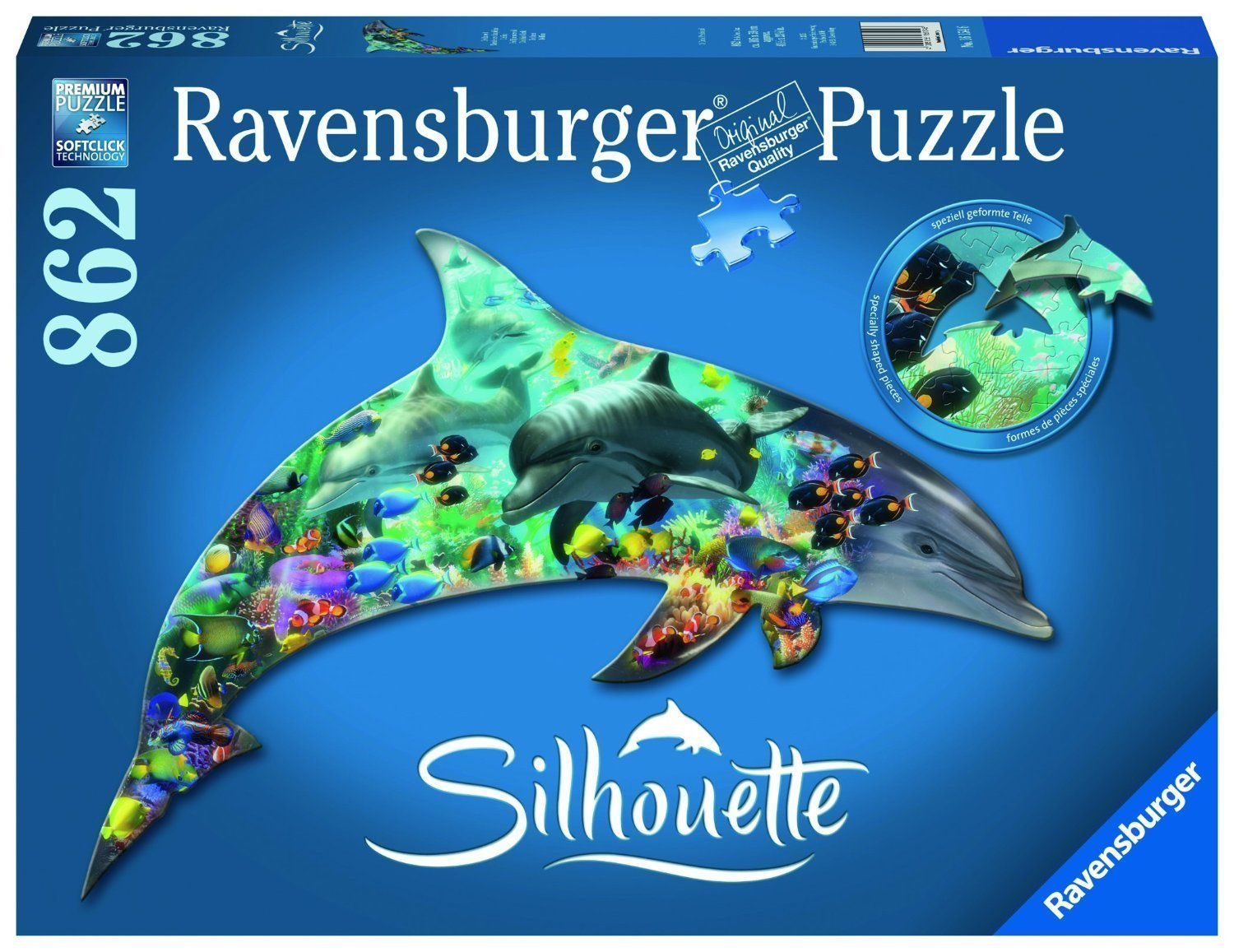 Sonstige Big Shaped Dolphin 500 Pc Dolphin Shaped Jigsaw Puzzle