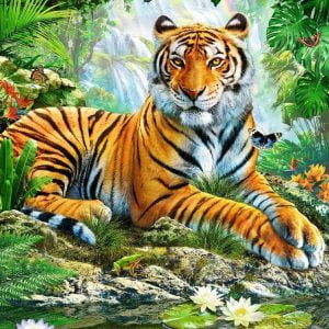 Tiger in the Jungle 500 Piece Ravensburger Puzzle