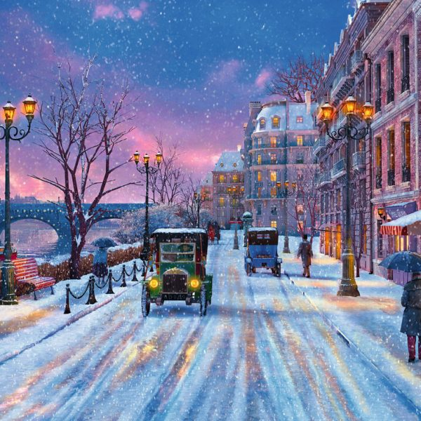 Winter in Paris 500 Piece Ravensburger Puzzle