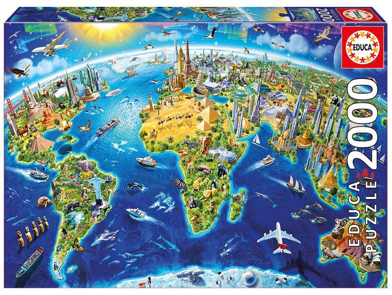 World Landmarks Globe 2000 Piece Educa Puzzle