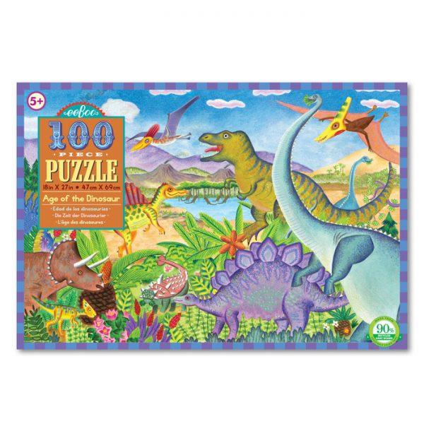 Age of the Dinosaur 100 Piece Puzzle – eeBoo