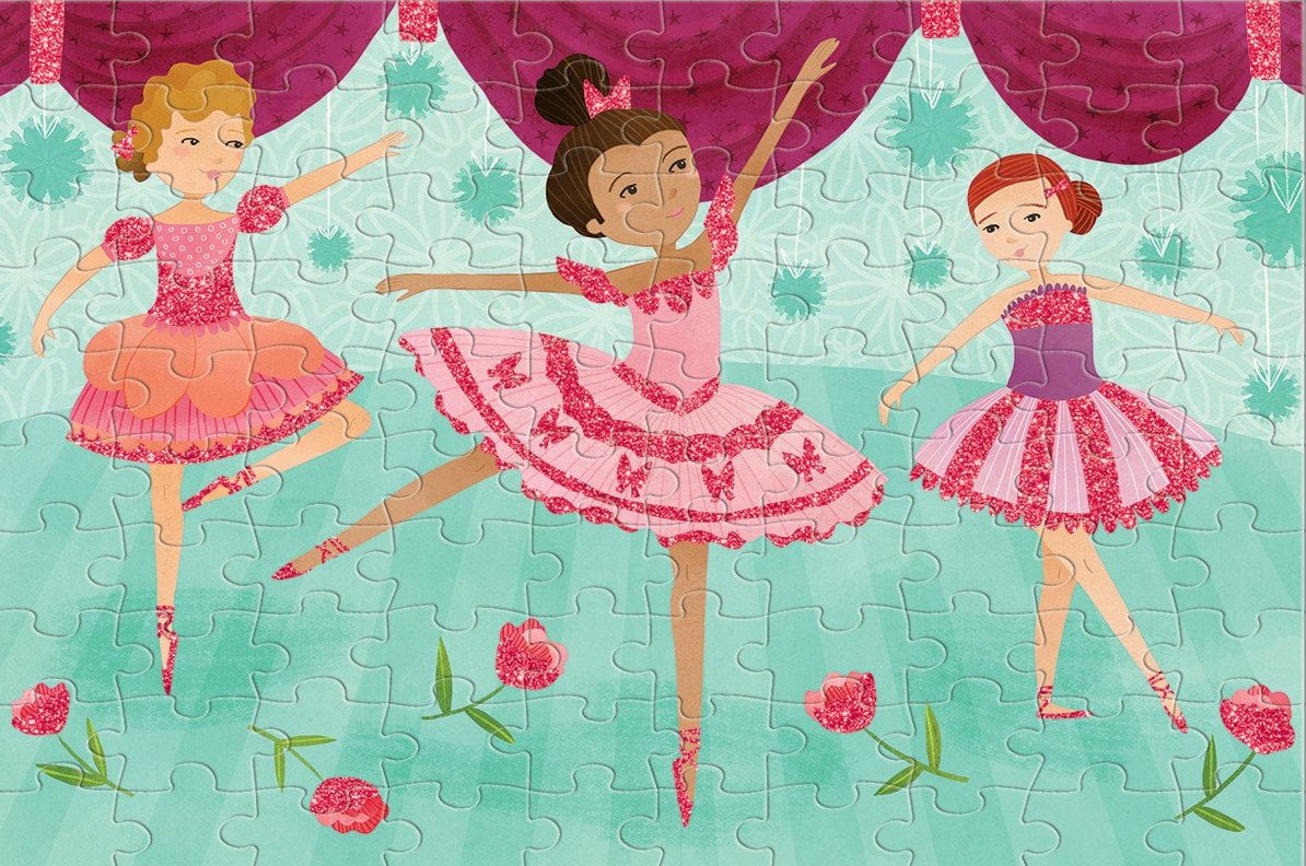 Ballerinas Glitter 100 Piece Puzzle - Mudpuppy