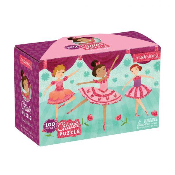Ballerinas Glitter 100 Piece Puzzle – Mudpuppy