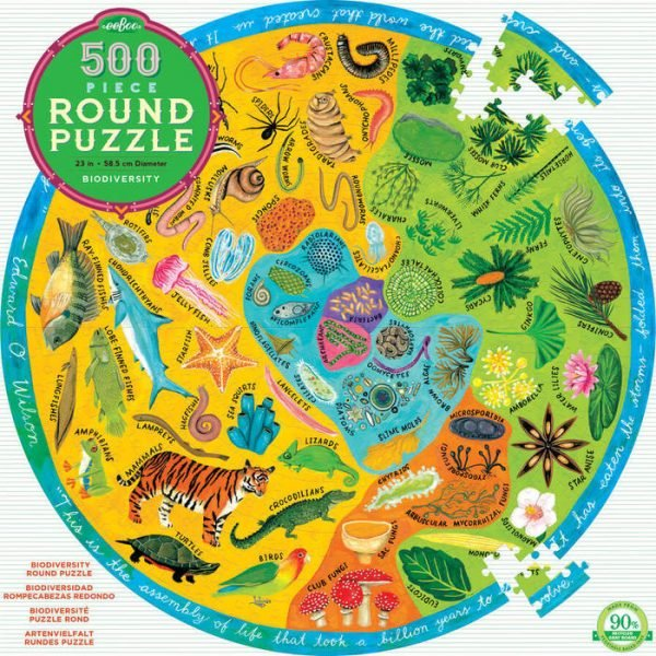 Biodiversity 500 Piece Round Puzzle – eeBoo