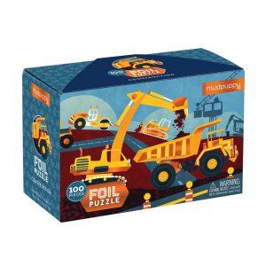Construction Foil Puzzle 100 Piece - Mudpuppy