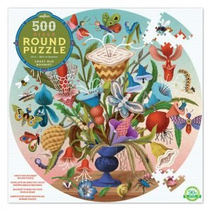 Crazy Bug Bouquet 500 Piece Round Puzzle - eeBoo