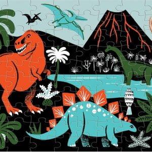 Dinosaurs Glow in the Dark 100 Piece Piece Puzzle - Mudpuppy