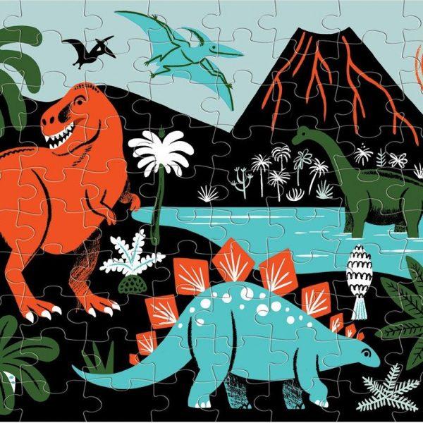 Dinosaurs Glow in the Dark 100 Piece Piece Puzzle – Mudpuppy