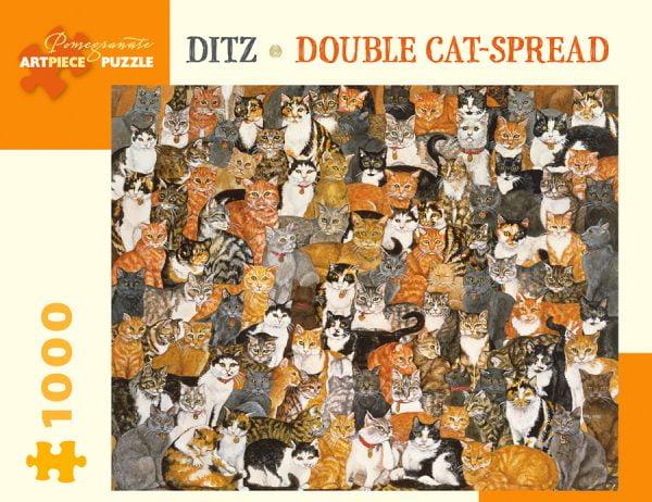 Ditz - Double Cat Spread 1000 Piece Pomegranate Puzzle