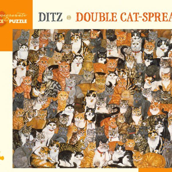 Ditz – Double Cat Spread 1000 Piece Pomegranate Puzzle