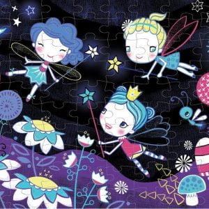 Fairies Glow in the Dark 100 Piece Puzzle - Mudpuppy