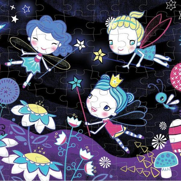 Fairies Glow in the Dark 100 Piece Puzzle – Mudpuppy