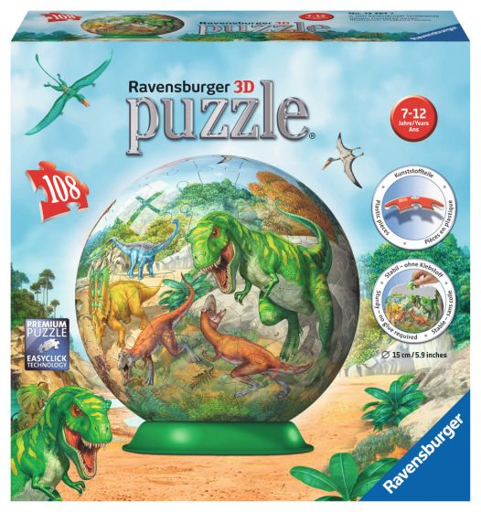 Fascinating Dinosaur 3D Puzzleball