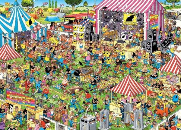 JVH FUNNY WORLD Pop Festival 1000 Piece Holdson Puzzle